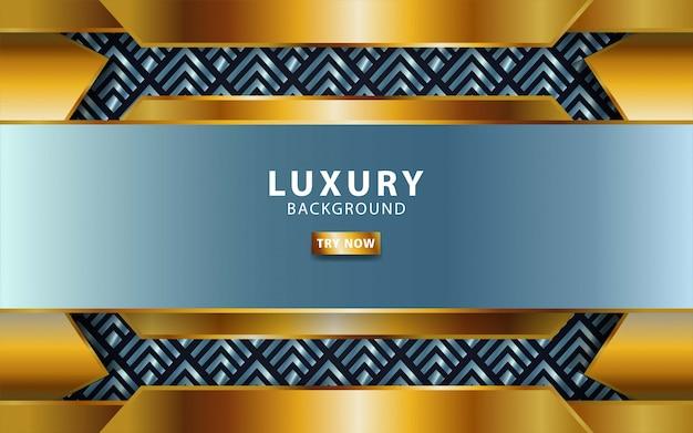 Fondo de vector de oro plata premium premium de lujo con línea de oro. capas de superposición con efecto de papel. plantilla digital efecto de luz realista sobre fondo de triángulo texturizado