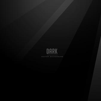 Fondo de vector oscuro con sombras negras