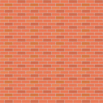 Fondo de vector de pared de ladrillo rojo