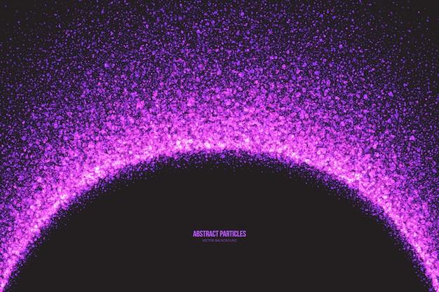 Fondo de vector de partículas brillantes resplandor púrpura