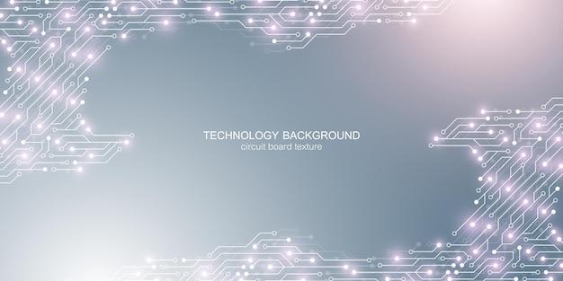 Fondo de vector de placa base de computadora con elementos electrónicos de placa de circuito textura electrónica para ...