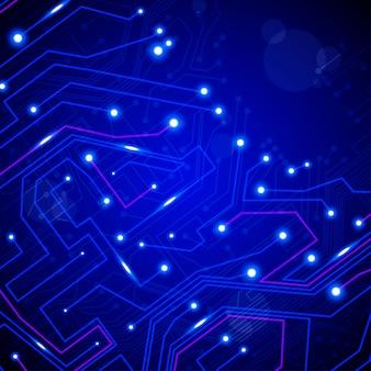 Fondo de vector de placa de circuito