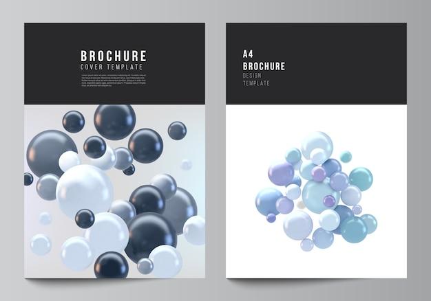Fondo de vector realista con esferas multicolores, burbujas, bolas.