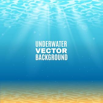Fondo de vector submarino