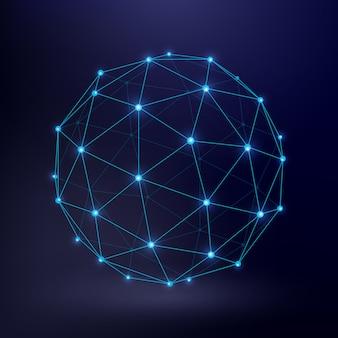 Fondo de vector de tecnología futurista