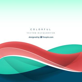 Fondo vectorial con hondas de colores