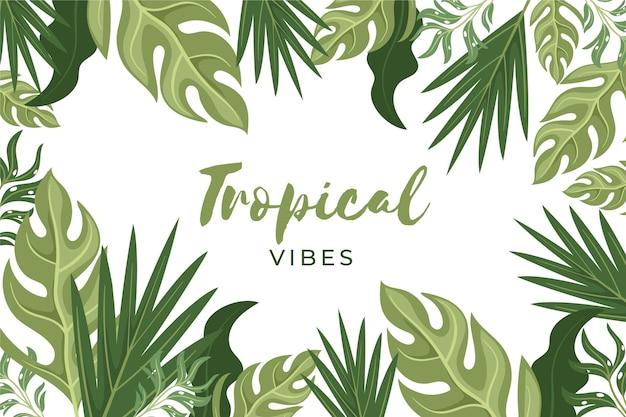 Fondo de vegetación tropical