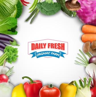 Fondo vegetal de alimentos saludables