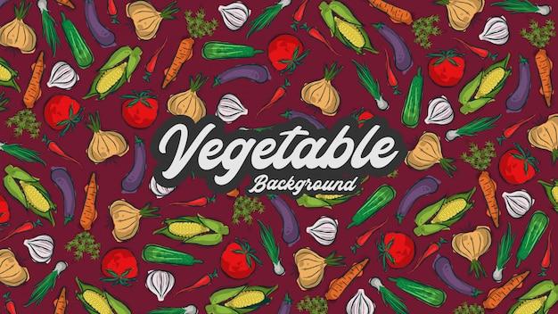 Fondo de vegetales o alimentos