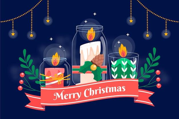 Fondo vela navidad dibujado a mano