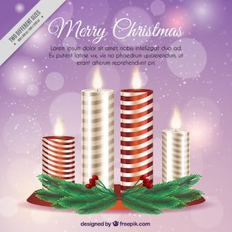 Fondo de velas decorativas en estilo realista