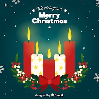 Fondo velas de navidad