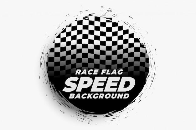 Fondo de velocidad de carrera con bandera a cuadros
