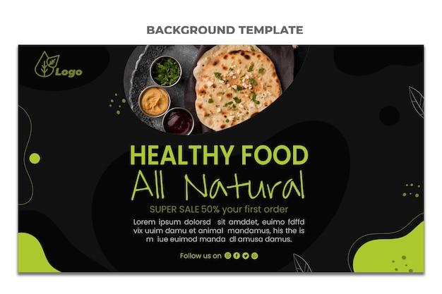 Fondo de venta de comida de diseño plano