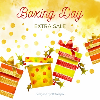Fondo de venta de día de boxeo