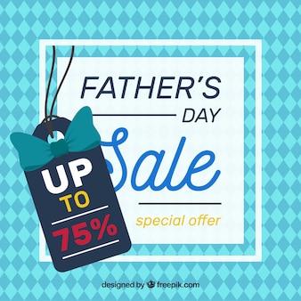 Fondo de venta de día del padre con patrón en estilo plano