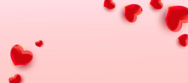 Fondo de venta de día de san valentín con globo en forma de corazón.