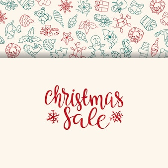 Fondo de venta de feliz navidad. elemento de decoración perfecto para tarjetas, invitaciones y otros.