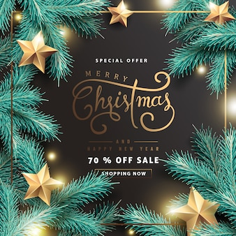 Fondo de venta de feliz navidad y próspero año nuevo