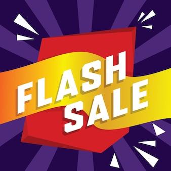 Fondo de venta flash en estilo plano