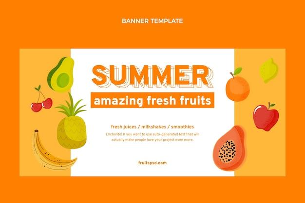 Fondo de venta de frutas planas