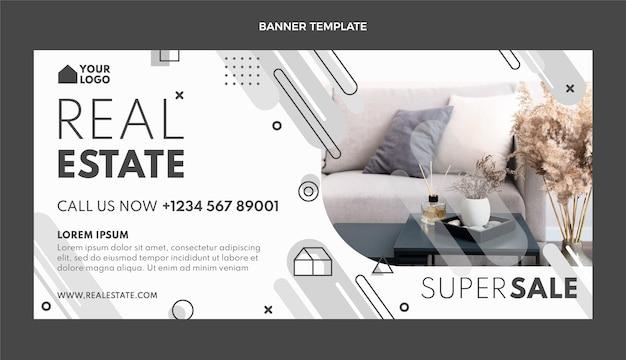 Fondo de venta inmobiliaria geométrica de diseño plano
