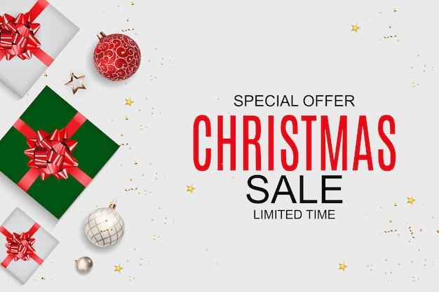 Fondo de venta de navidad y año nuevo