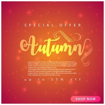 Fondo de venta de otoño