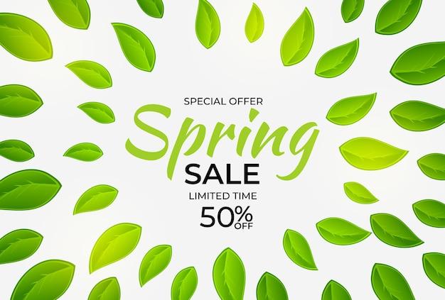 Fondo de venta de primavera de luz natural.