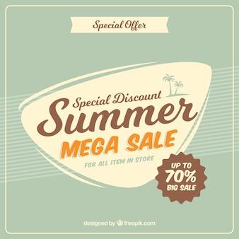 Fondo de venta de verano en estilo vintage