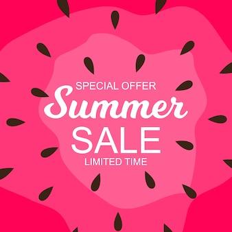 Fondo de venta de verano con sandía