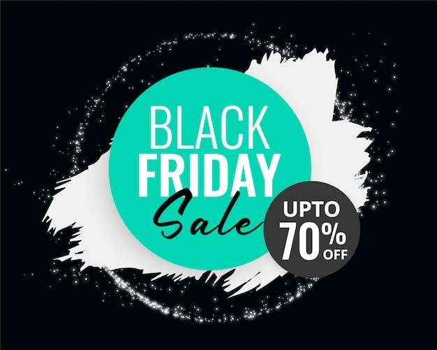 Fondo de venta de viernes negro abstracto con salpicaduras de tinta