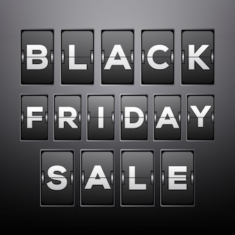 Fondo de venta de viernes negro con diseño de reloj analógico
