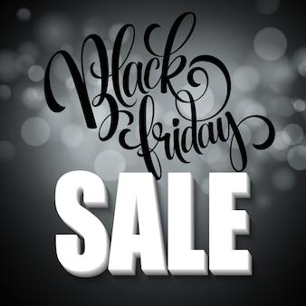 Fondo de venta de viernes negro. luces de fondo bokeh. ilustración de vector eps10