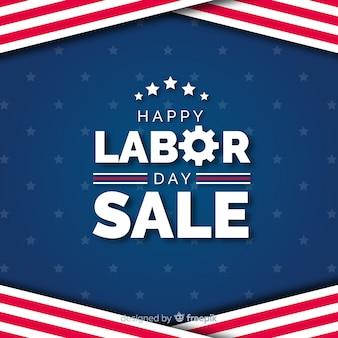 Fondo de ventas de día de trabajo de estados unidos en estilo plano