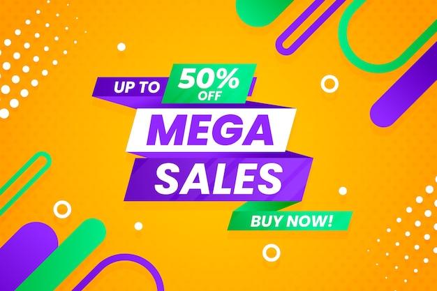 Fondo de ventas con elementos abstractos coloridos