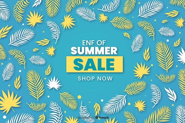 Fondo de ventas de fin de verano