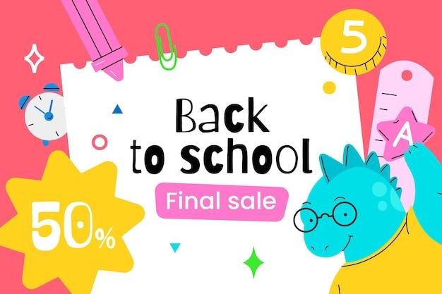 Fondo de ventas de regreso a la escuela