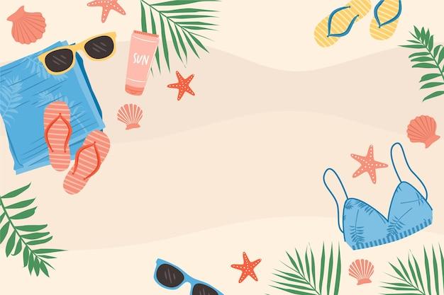 Fondo de verano colorido con espacio vacío