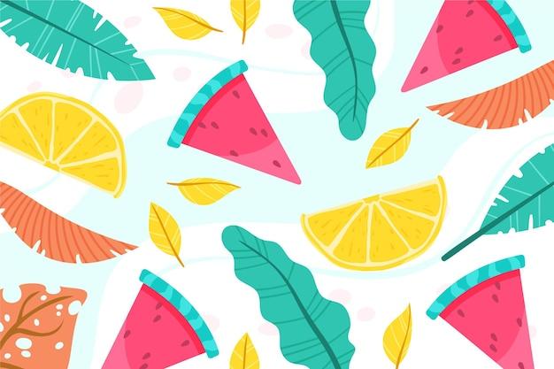 Fondo de verano colorido para zoom