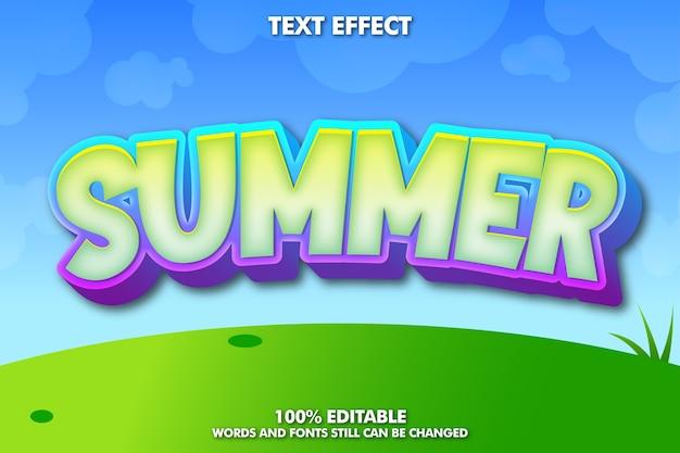Fondo de verano con efecto de texto editable