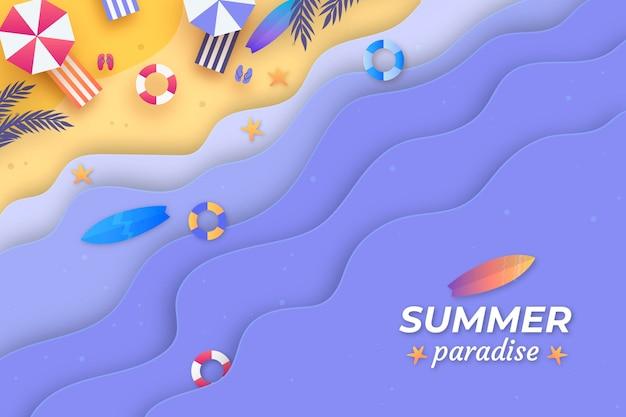 Fondo de verano en papel