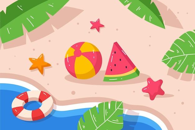 Fondo de verano plano orgánico