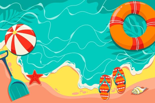 Fondo de verano con playa