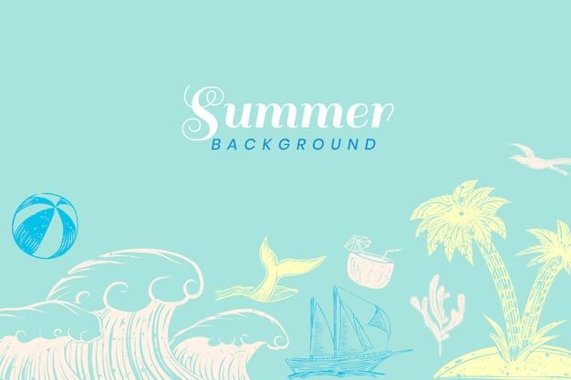Fondo de verano turquesa