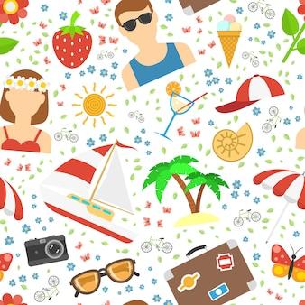 Fondo de verano y vacaciones.