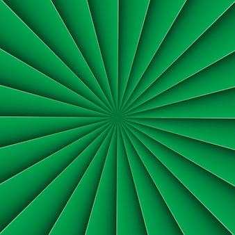 Fondo verde en abanico de forma abstracta con línea de flexión