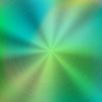 Fondo verde abstracto colorido de la tecnología del gradiente del metal