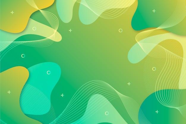 Fondo verde abstracto en estilo fluido