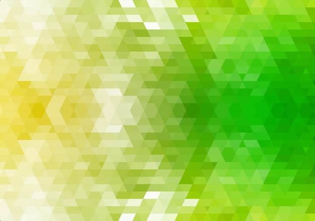 Fondo verde abstracto de formas geométricas